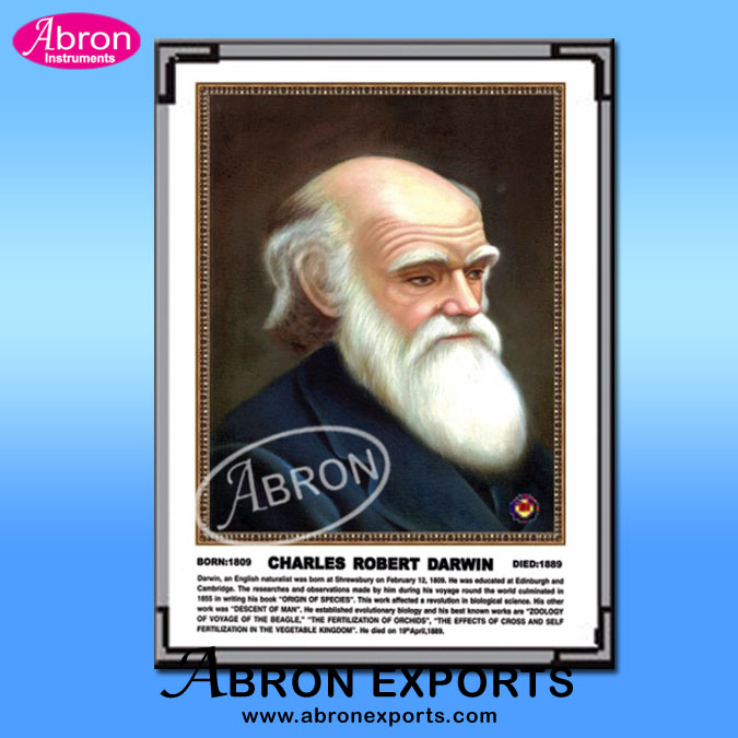 Portraits of scienctists  Charles Robert Darwin life sketches size 35 X 50 CM Abron AB-204P-18