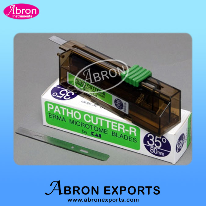 Microtome Disposable knife blade holder for high Profile thik or strong sample 80mm 20 degree ERMA Blade Abron AB-91-24BE