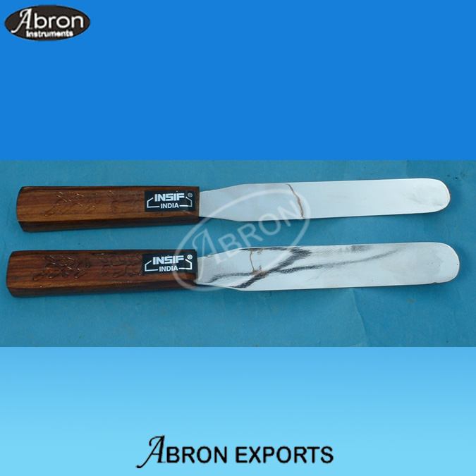 Spatula ointment with wooden handle 10,12 inch Large Abron AB-79-S