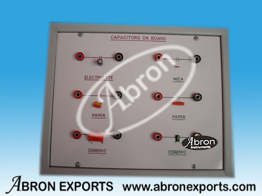 Component Display Capacitors different value with terminals in box AE-1224C