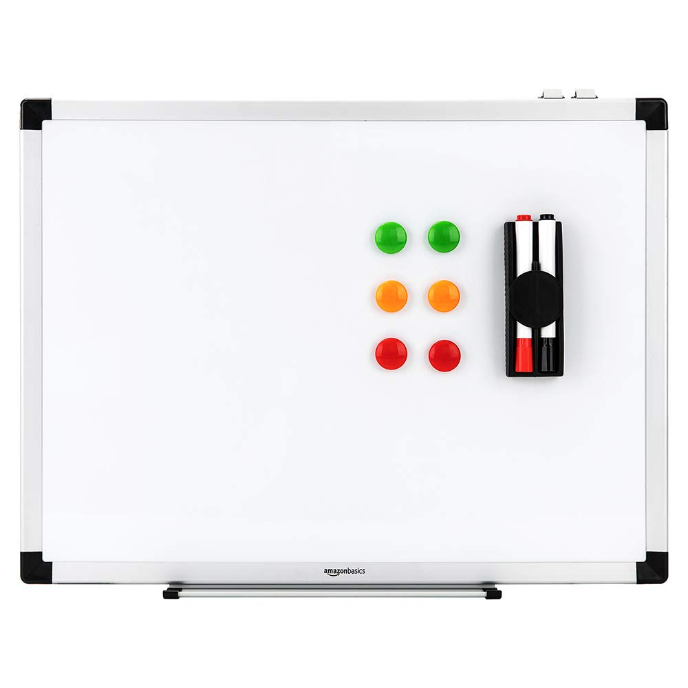 Display board 95x58cm White board Drywipe Magnetic with Pen Tray Aluminium 6 magnets 1eraser and 2 dry erase markers abron AG-213M3
