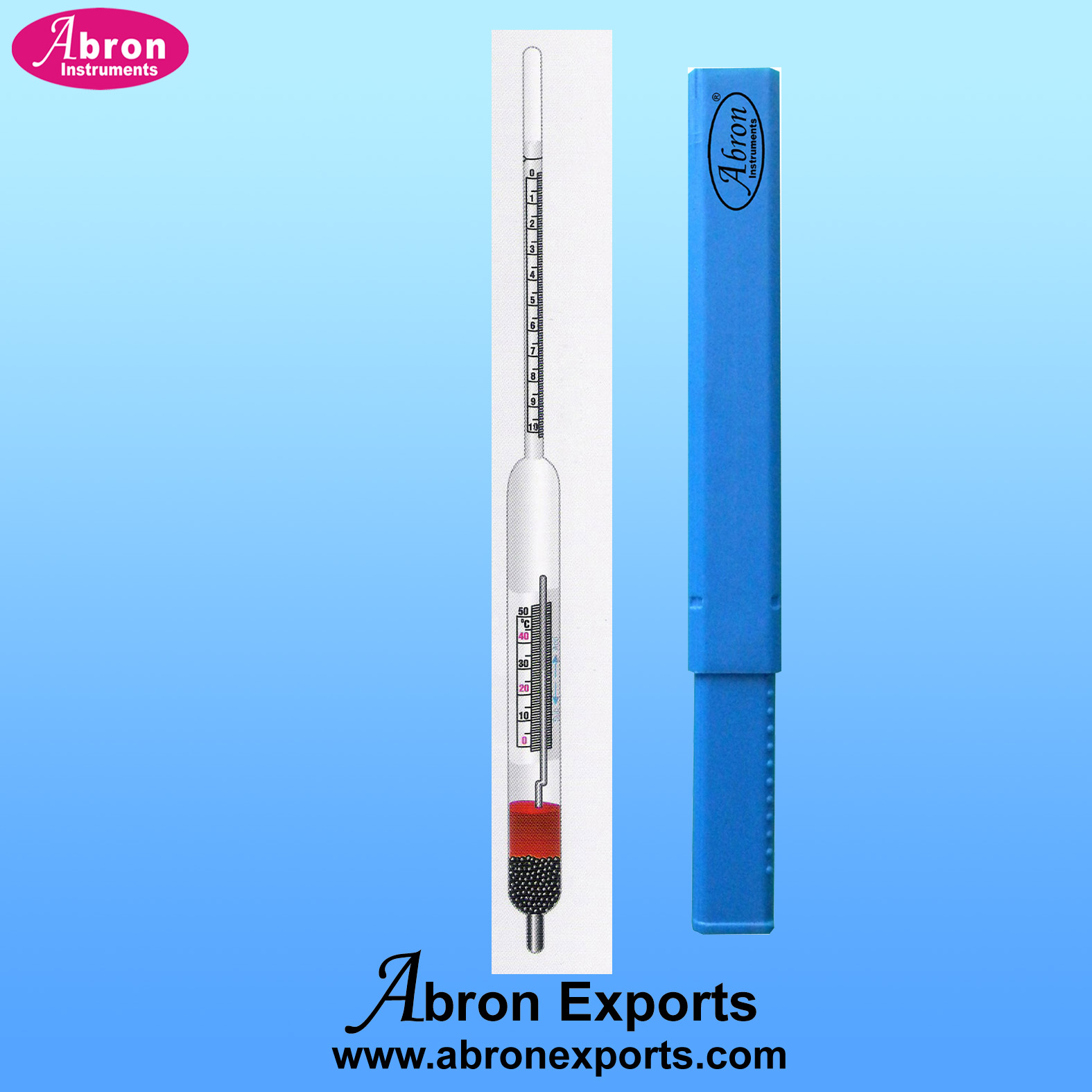 Hydrometer brix with..
