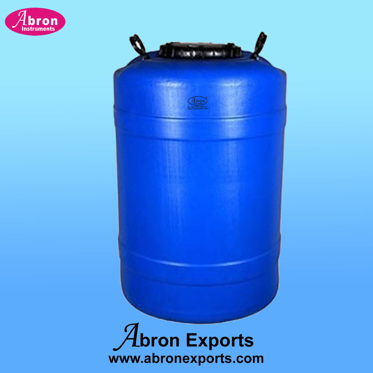 Containers Plastic 100 liters Wide Mouth Screw Cap Blue Heavy Abron AT-9515-100N