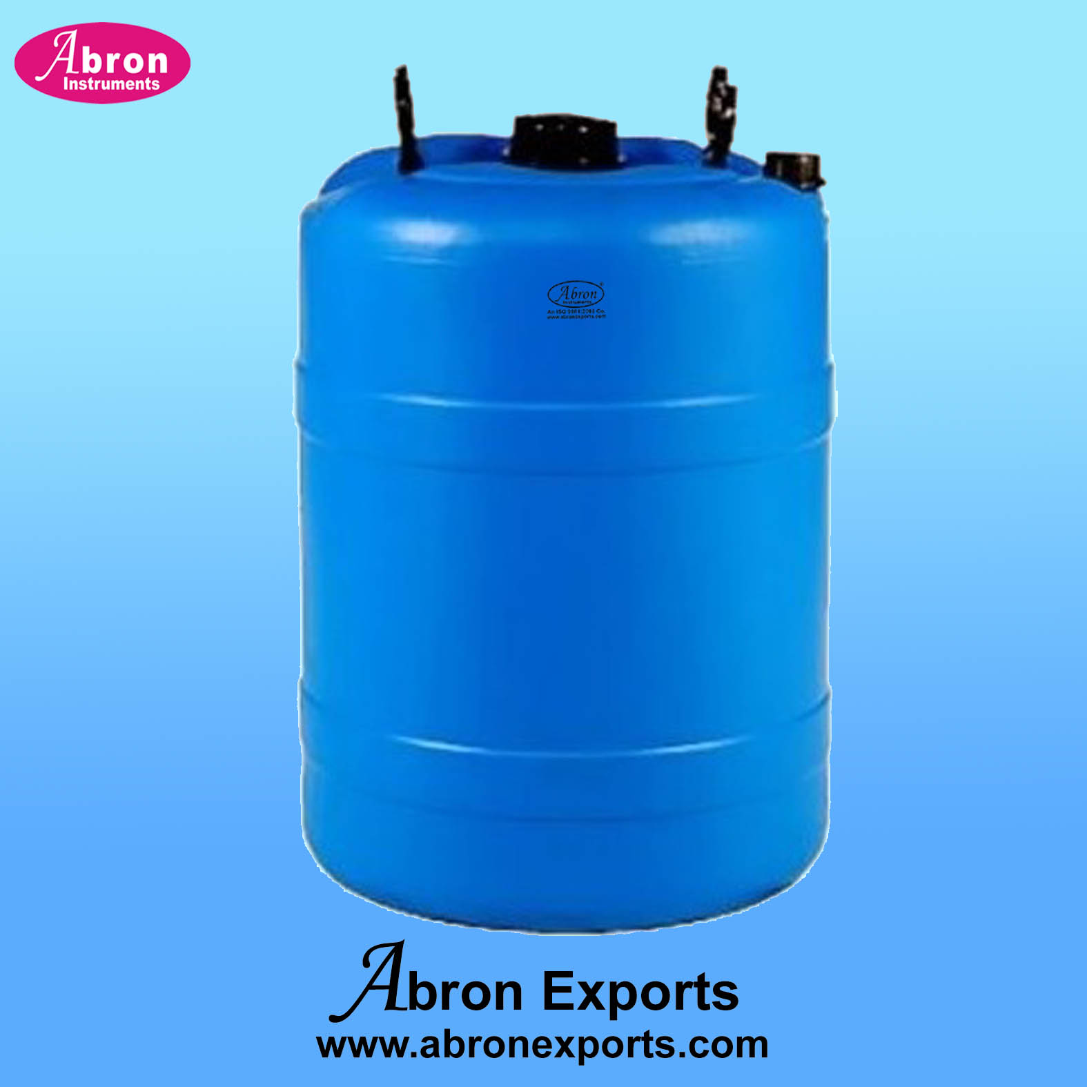 Containers Plastic 100 Liters Narrow Mouth Screw Cap Blue Heavy Abron AT-9515-100W