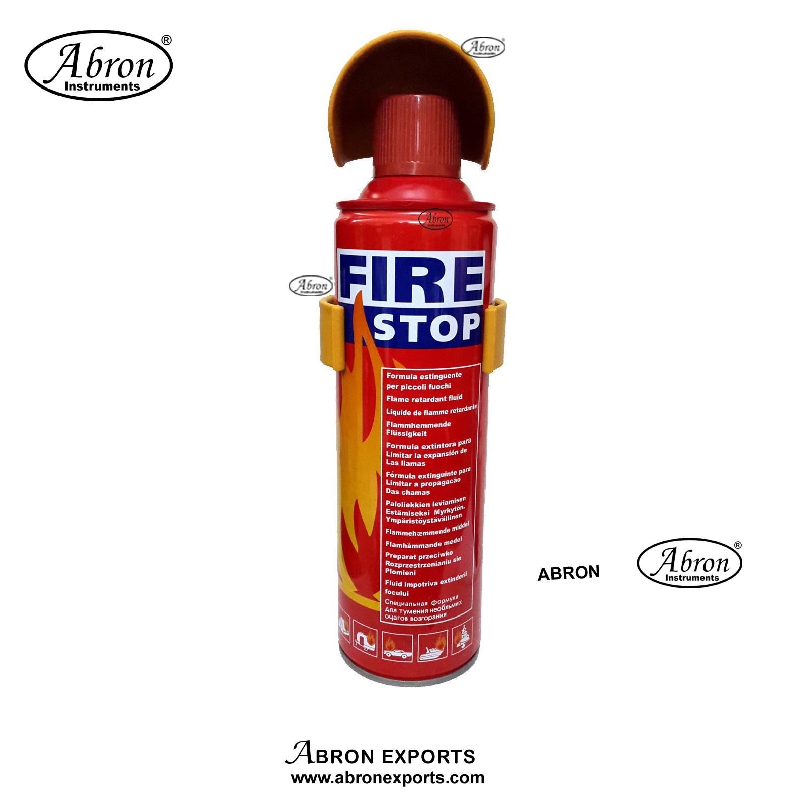Fire extinguisher 400ml AB forcar small uses lab table with pressure press down button wall hanging clamp abron2 GA-008G