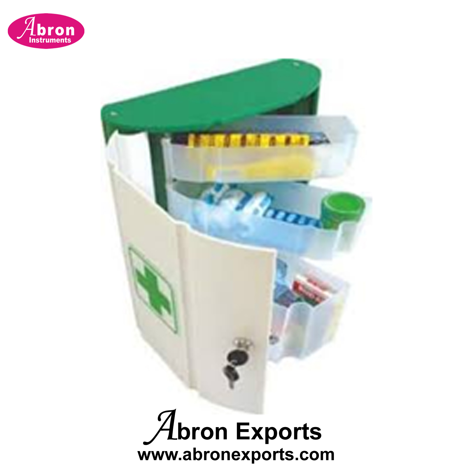First aid kit in plastic box 10 people Abron GA-09-A